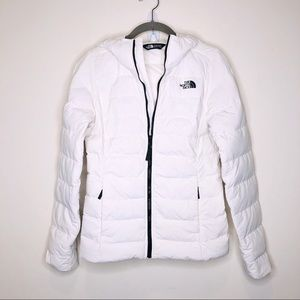 The North Face 550 Down Puffer Coat XS White Zip